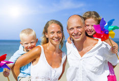 Young family on holiday Royalty Free Stock Image