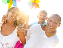 Young family on holiday Royalty Free Stock Photos