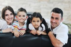 Young family at home Royalty Free Stock Photo