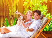 Young family in honeymoon Stock Photography