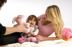 Young family with little girl Royalty Free Stock Photos