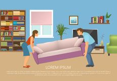 Young Family At Living Room Design Stock Photography
