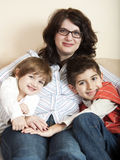 Young family mother with children Royalty Free Stock Photo