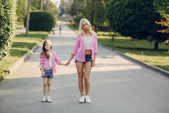 Young family mother and daughter Stock Images