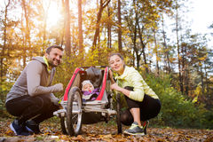Young family in nature Royalty Free Stock Photos
