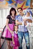 Young Family on Oktoberfest Stock Photography