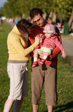 Young family outdoor Stock Photography