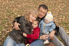 Young family in park Royalty Free Stock Photo