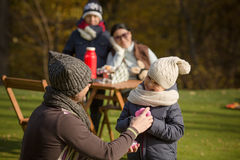 Young family on a picnic Royalty Free Stock Photo