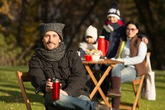 Young family on a picnic Royalty Free Stock Images