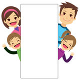 Young Family Placard Stock Photography