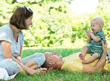 Young family Stock Image