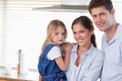 Young family posing Stock Images