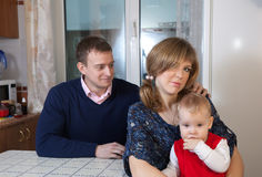 Young family after quarrel Stock Image