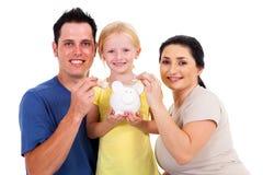 Young family saving stock image