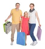 Young Family Shopping Together Royalty Free Stock Photography