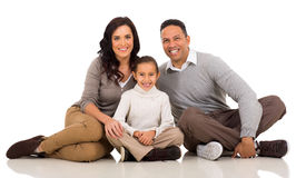 Young family sitting Royalty Free Stock Photos