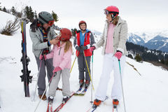 Young Family On Ski Vacation Royalty Free Stock Image