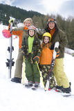 Young family on ski vacation Royalty Free Stock Photo