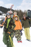 Young family on ski vacation Stock Photography