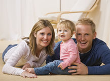 Young Family Smiling Royalty Free Stock Photography