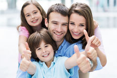 Young family smiling Royalty Free Stock Photo