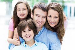 Young family smiling Stock Photography