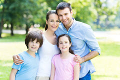Young family smiling Stock Photo