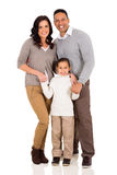 Young family standing Royalty Free Stock Images