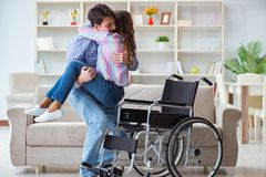 The young family taking care of each other. Young family taking care of each other Stock Images