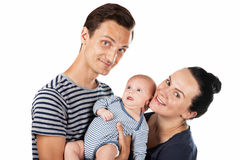 Young family of three Royalty Free Stock Images
