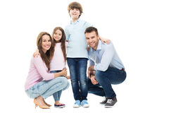 Young family with two kids Stock Photos