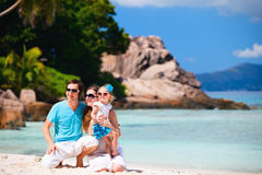 Young family on vacation royalty free stock photos