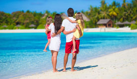 Young family on vacation Stock Images