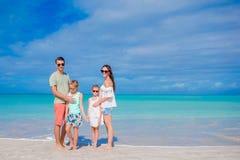 Beautiful happy family on the beach Stock Image