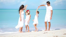 Young family on vacation have a lot of fun stock footage