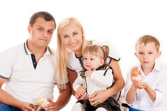 Young family with young children Royalty Free Stock Photo