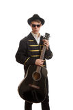 Young fancy guitarist Stock Images