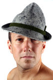 Young Farm. A young farmer with his typical Tyrolean hat Royalty Free Stock Photo