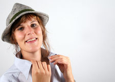 Young Farmer. A young farmer's girl from Tyrol / Austria with a typical hat Stock Photography