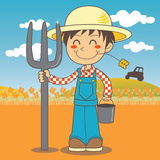 Young farmer boy Stock Photo