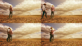 Young farmer couple planning new seeding season Royalty Free Stock Image