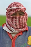 Young farmer woman at Apamea, Syria Royalty Free Stock Image