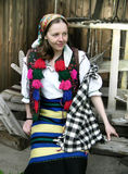 Young farmers`s wife. In the village of Dragomiresti you can visit to the Museum of Farmers' Wives from Maramures Royalty Free Stock Images
