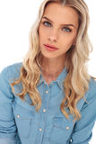 Young fashion blond woman Stock Photography
