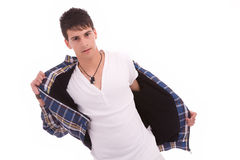 Young fashion boy Royalty Free Stock Images