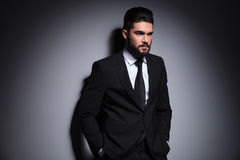 Young fashion business man looks away Royalty Free Stock Images
