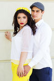 Young fashion couple girl and boy Stock Photo