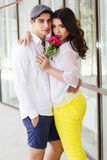 Young fashion couple in love Stock Photography