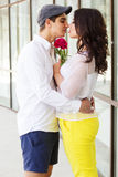 Young fashion couple in love Royalty Free Stock Image